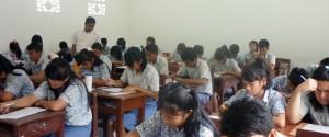 Suasana belajar di SMA ASSISI Siantar